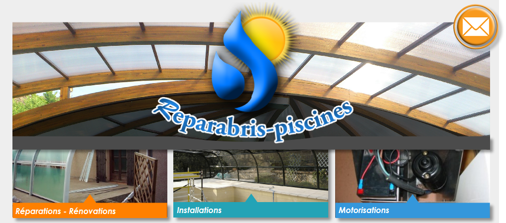 Reparations abris piscines for Reparation abri piscine